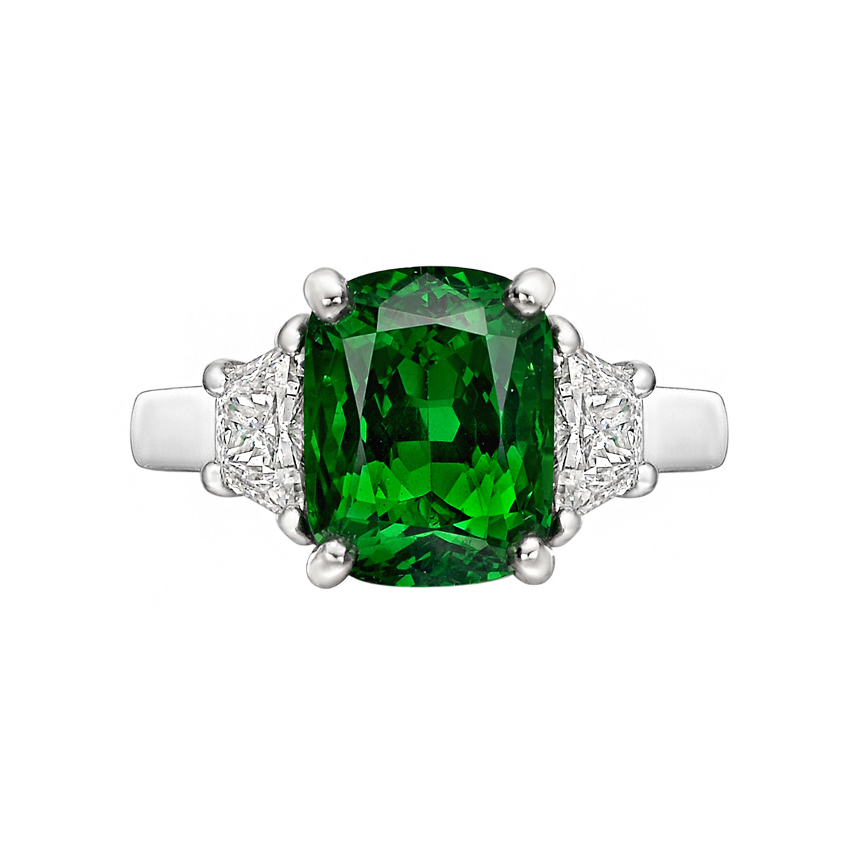 4.20ct Tsavorite Garnet & Diamond Ring