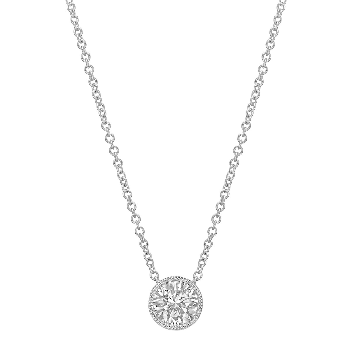 0.51ct Round Brilliant Diamond Solitaire Pendant
