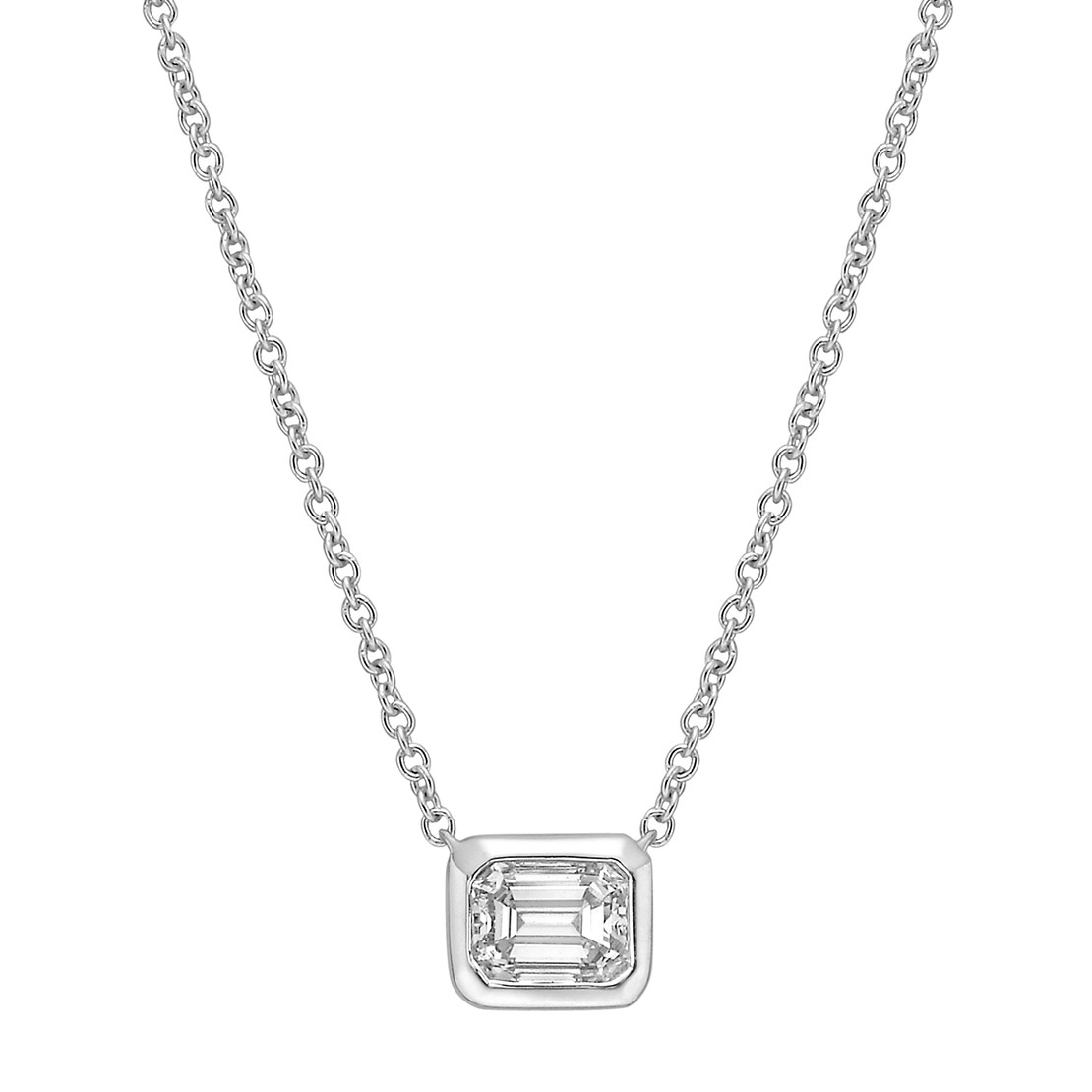 0.40 Carat Emerald-Cut Diamond Solitaire Pendant