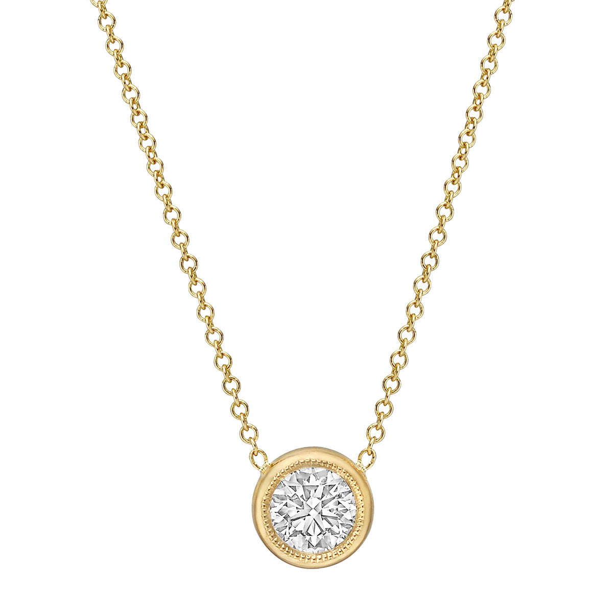 0.56 Carat Round Brilliant Diamond Solitaire Pendant