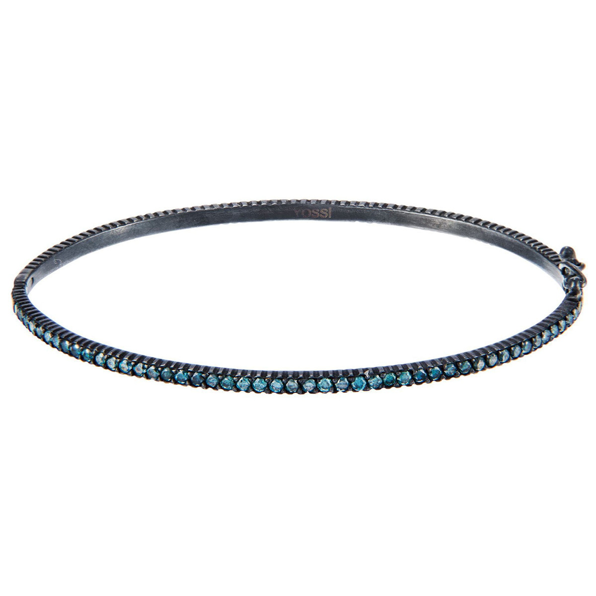 "Gilver & Blue Diamond ""Lilah"" Bangle Bracelet"
