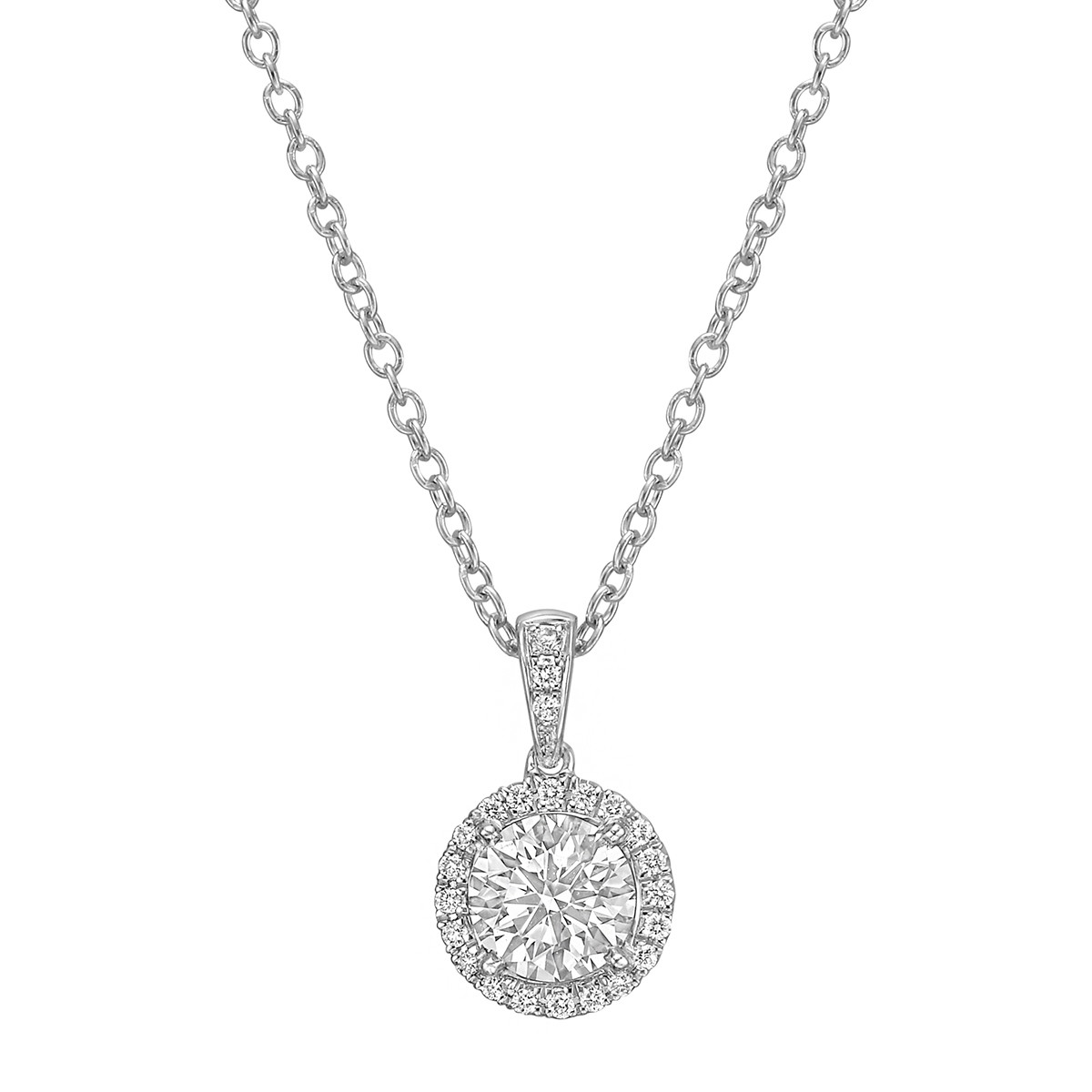 "1.19 Carat Round Brilliant Diamond ""Astor"" Pendant"