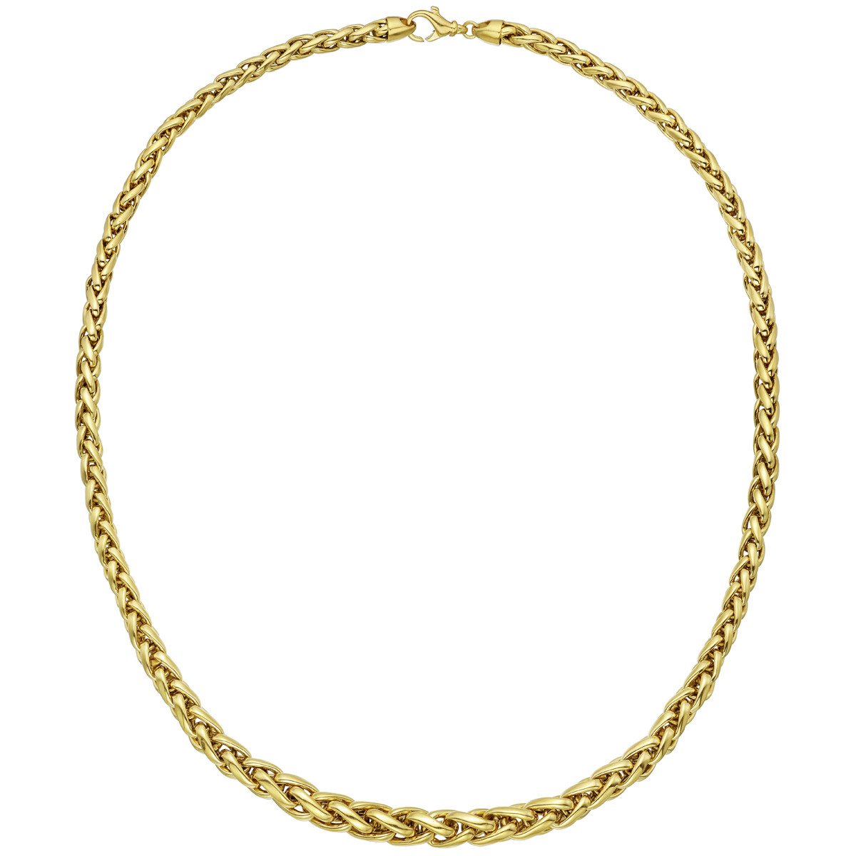 18k Yellow Gold Braided Link Necklace