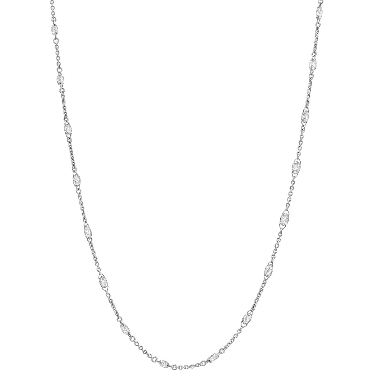 Briolette-Cut Diamond Chain Necklace (3.95 ct tw)
