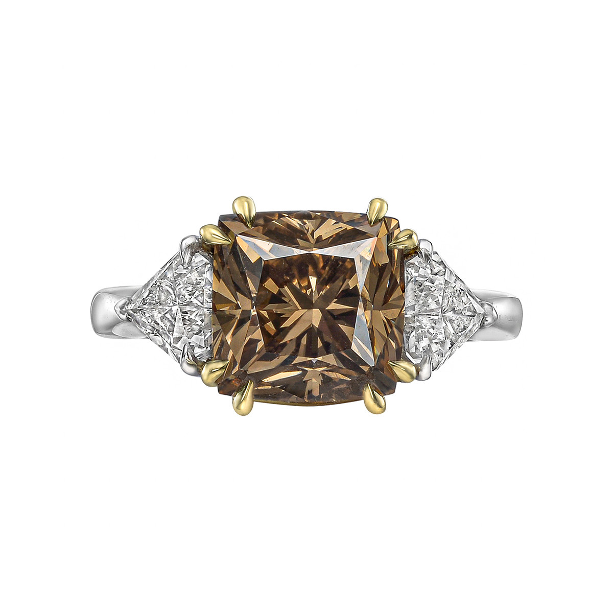 4.93ct Fancy Brown & White Diamond Ring