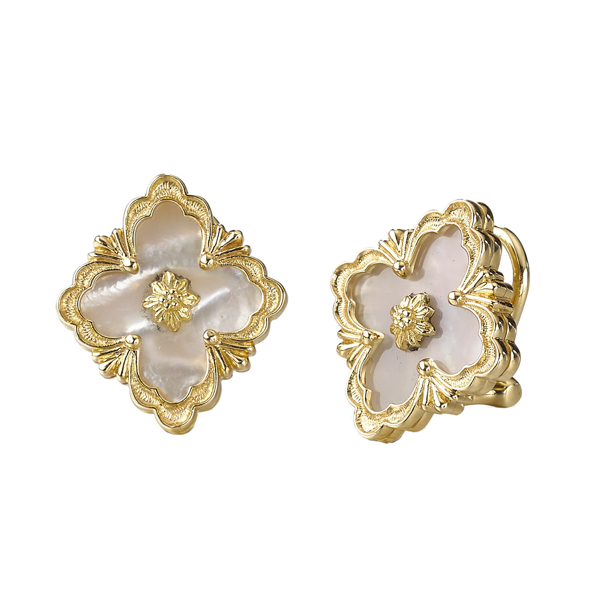 "18k Yellow Gold & Mother-of-Pearl ""Opera"" Earrings"