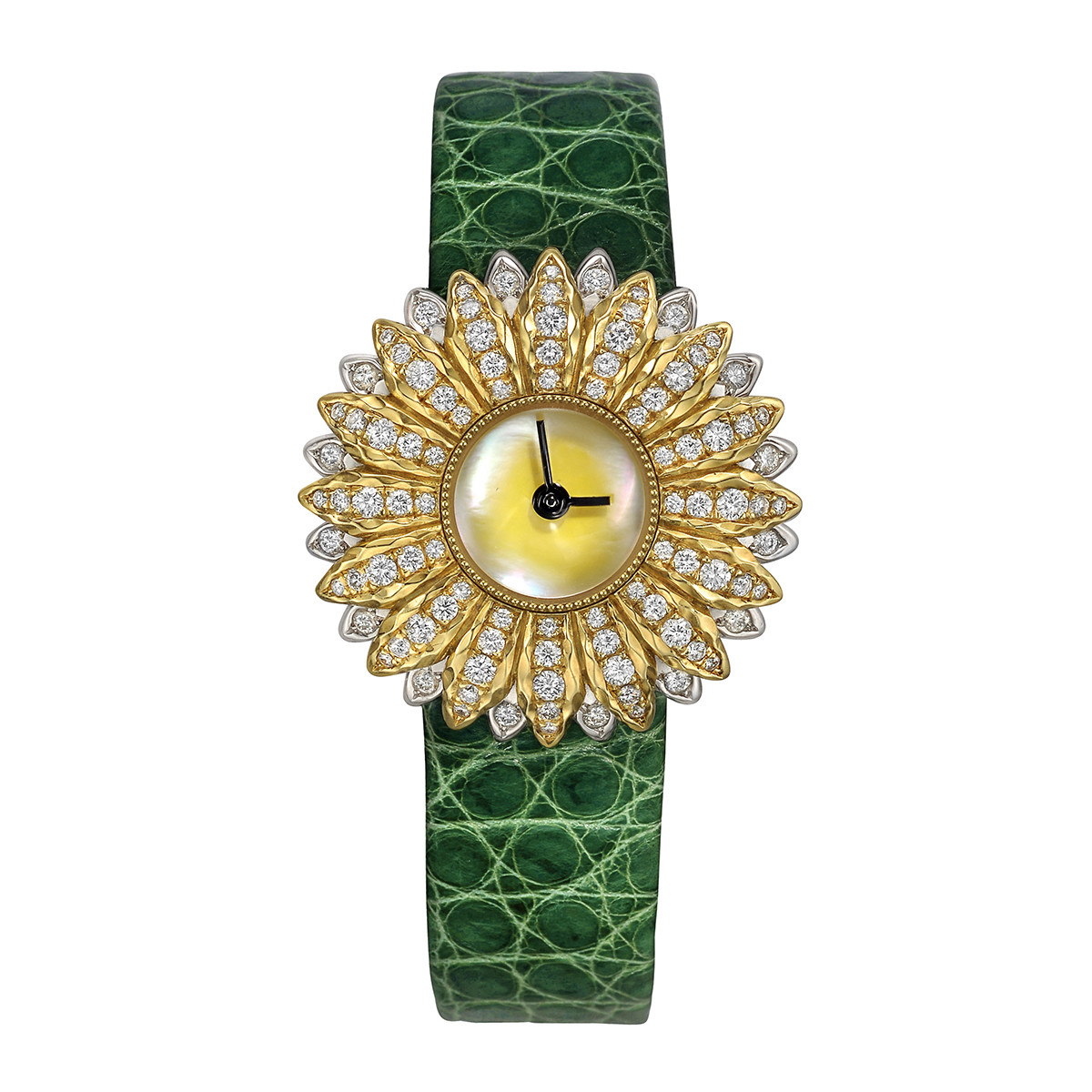 Anthochron 18k Yellow Gold & Diamond Wristwatch