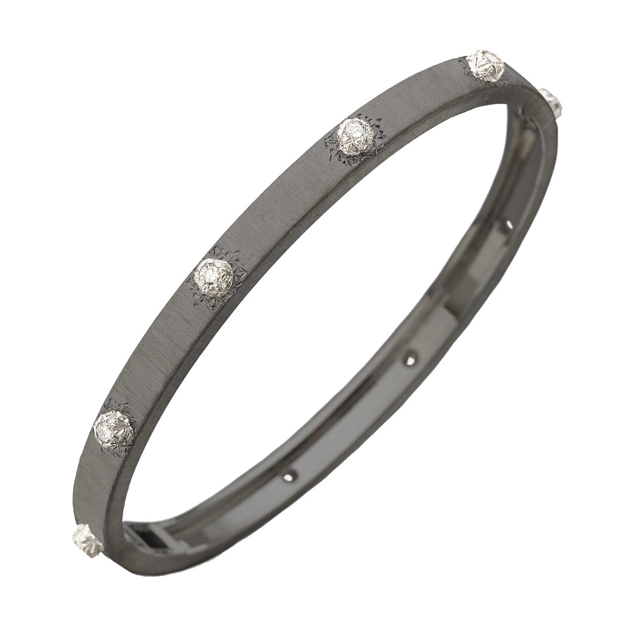 "18k Black Gold & Diamond ""Macri"" Bangle"