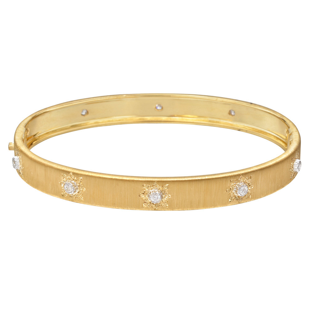 "18k Yellow Gold & Diamond ""Classica"" Bangle Bracelet"