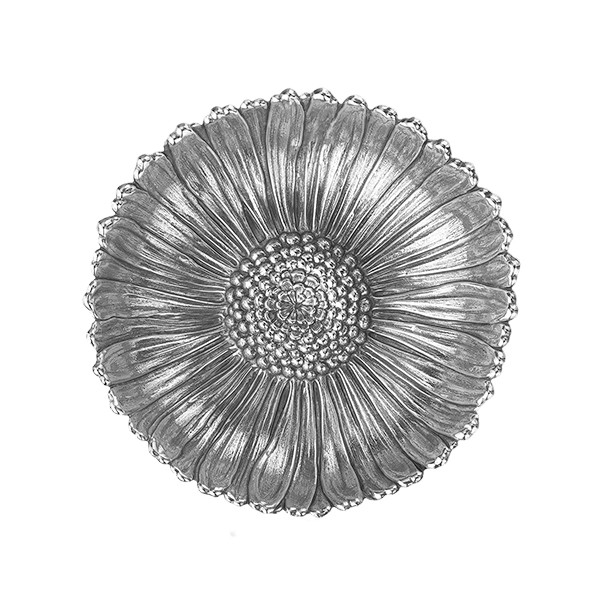 Medium Silver Daisy Flower Dish