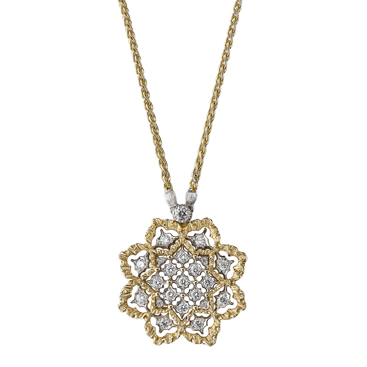 "18k Gold & Diamond ""Rombi"" Pendant"