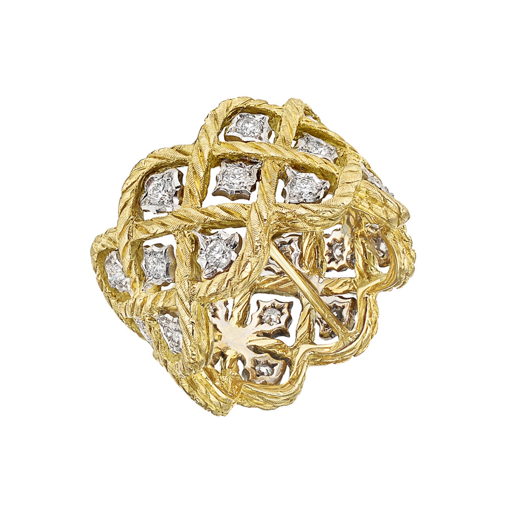 "18k Gold & Diamond ""Etoilee"" Band Ring"