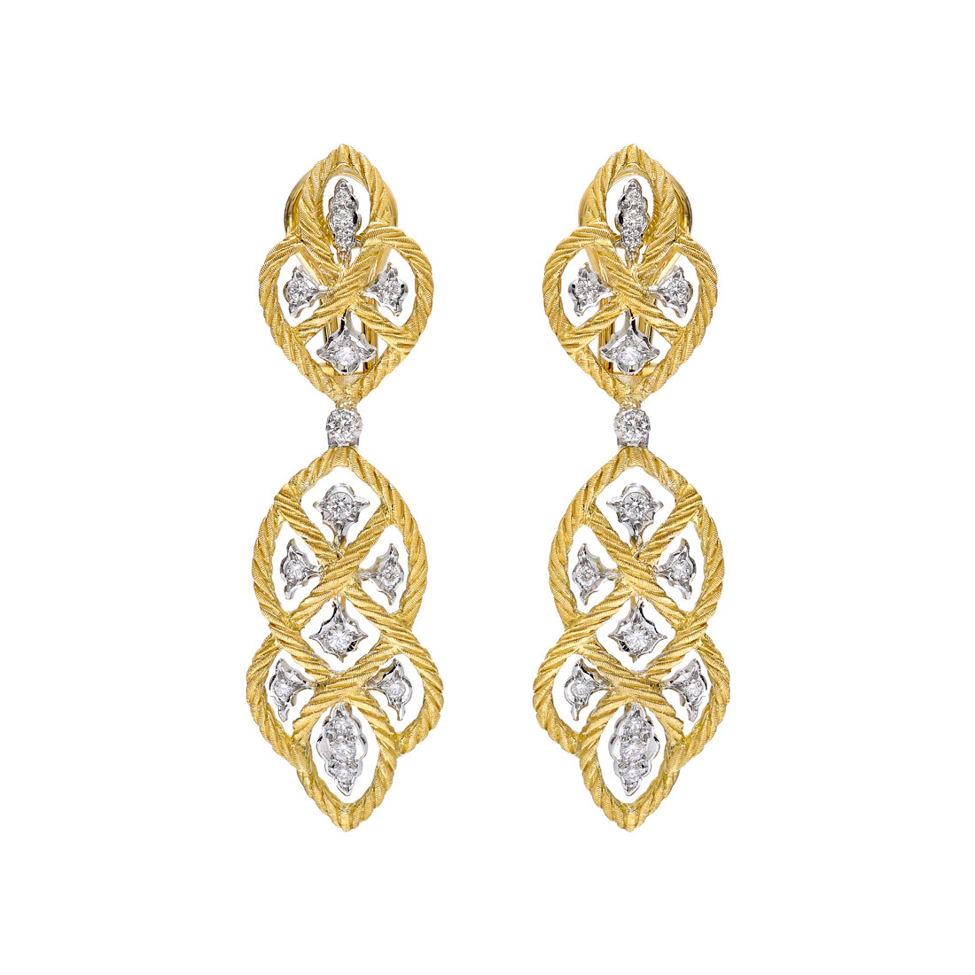 "18k Gold & Diamond ""Etoilee"" Pendant Earrings"