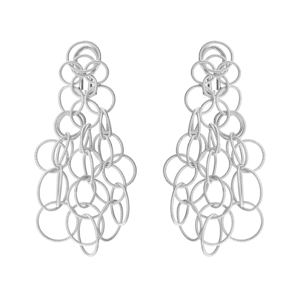 "Medium 18k White Gold ""Hawaii"" Chandelier Earrings"