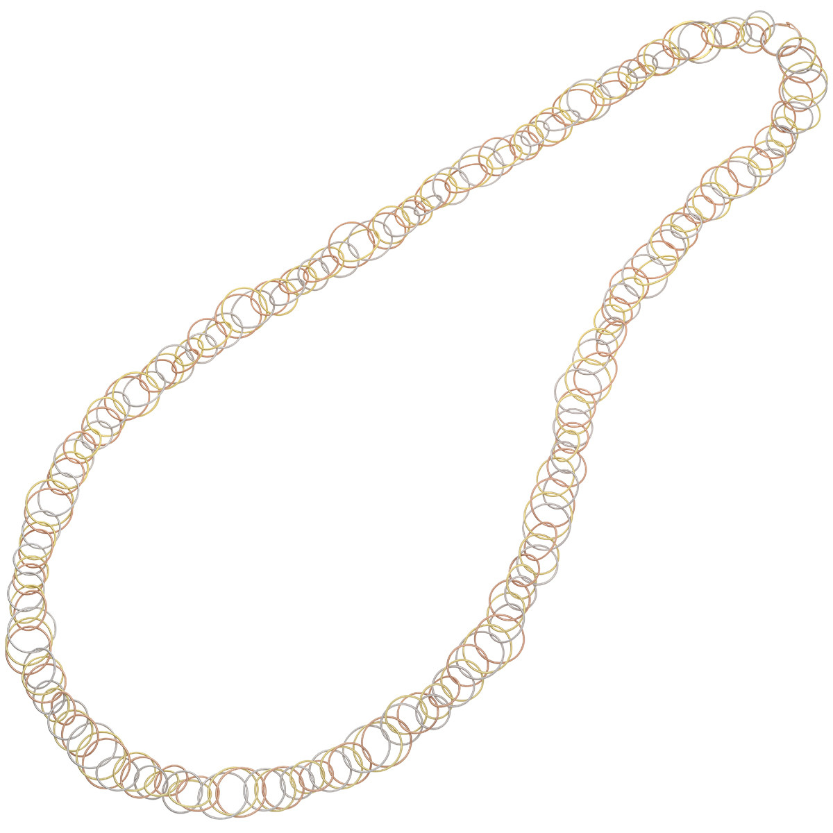 "18k Tricolored Gold ""Hawaii"" Long Necklace"