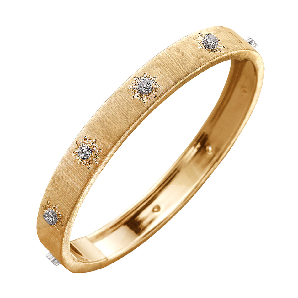 "18k Yellow Gold & Diamond ""Macri"" Bangle Bracelet"