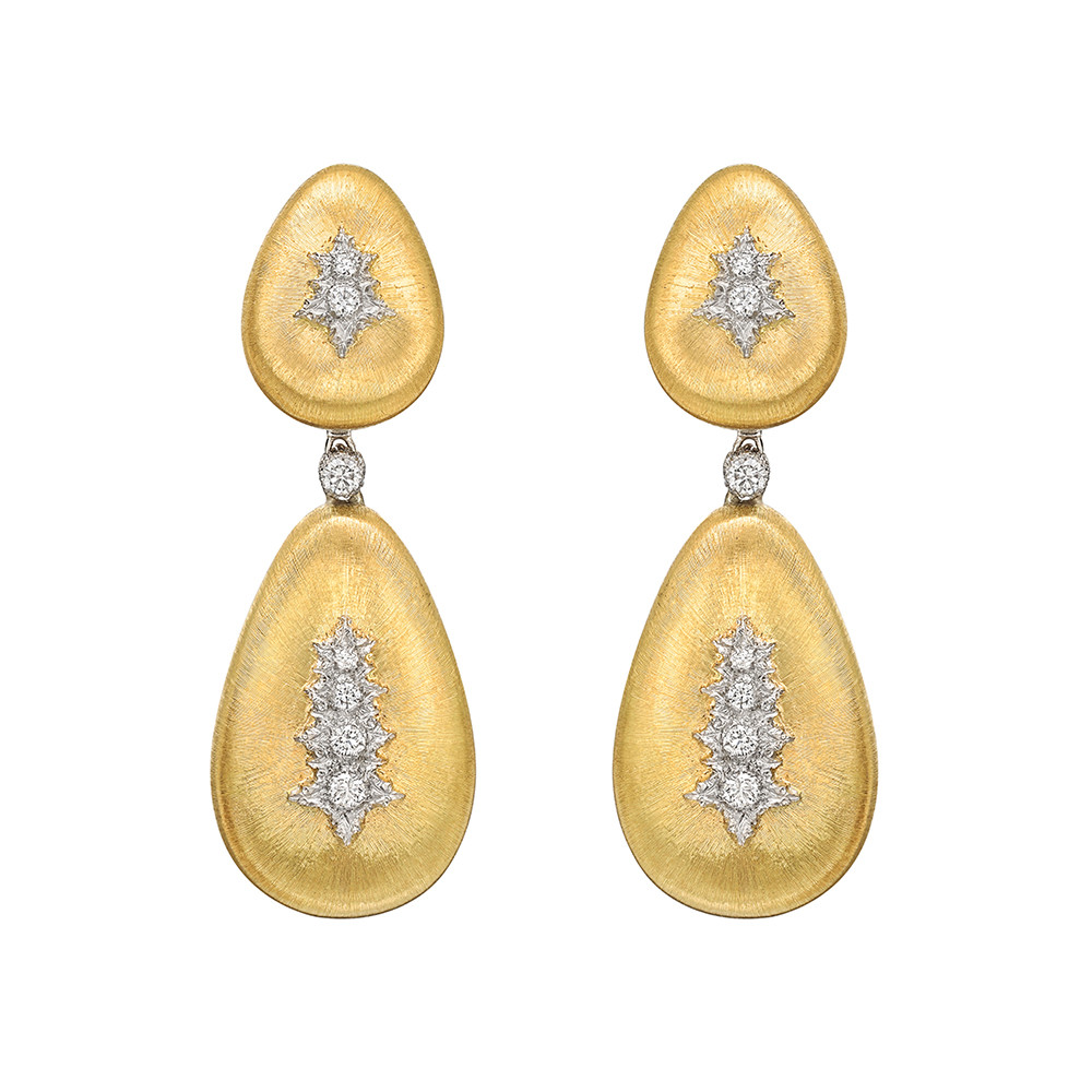 "18k Gold & Diamond ""Macri"" Pendant Earrings"