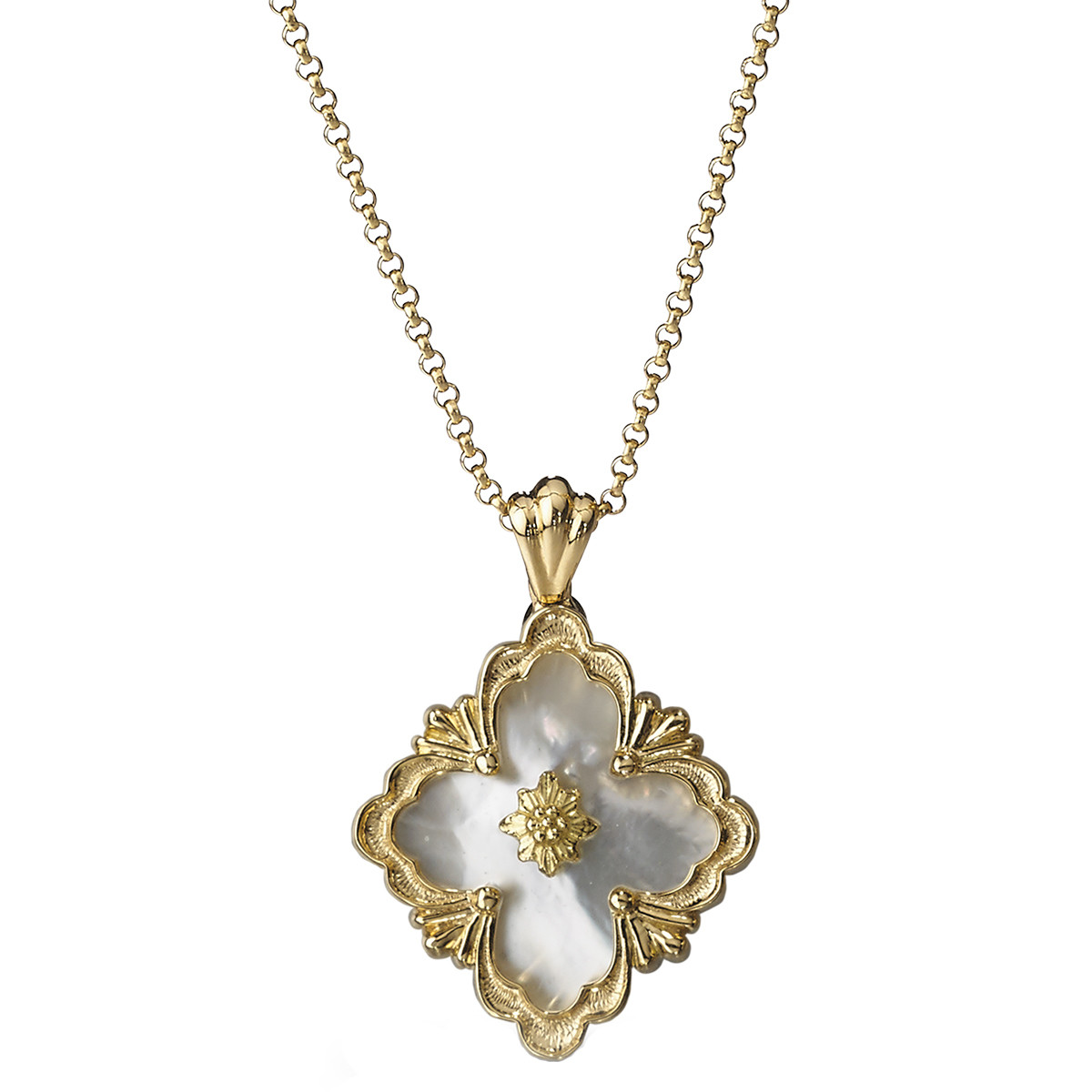 "18k Yellow Gold & Mother-of-Pearl ""Opera"" Pendant"