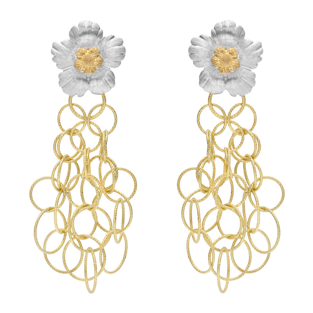 "18k Gold ""Olympia"" Drop Earrings"