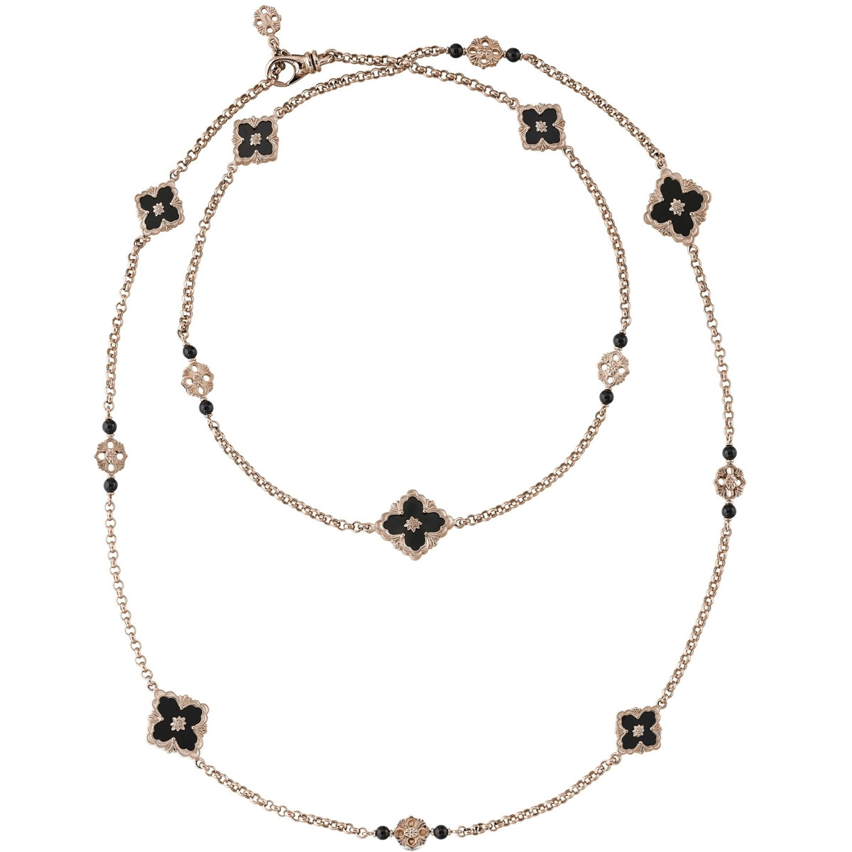 "18k Rose Gold & Black Onyx ""Opera"" Long Necklace"
