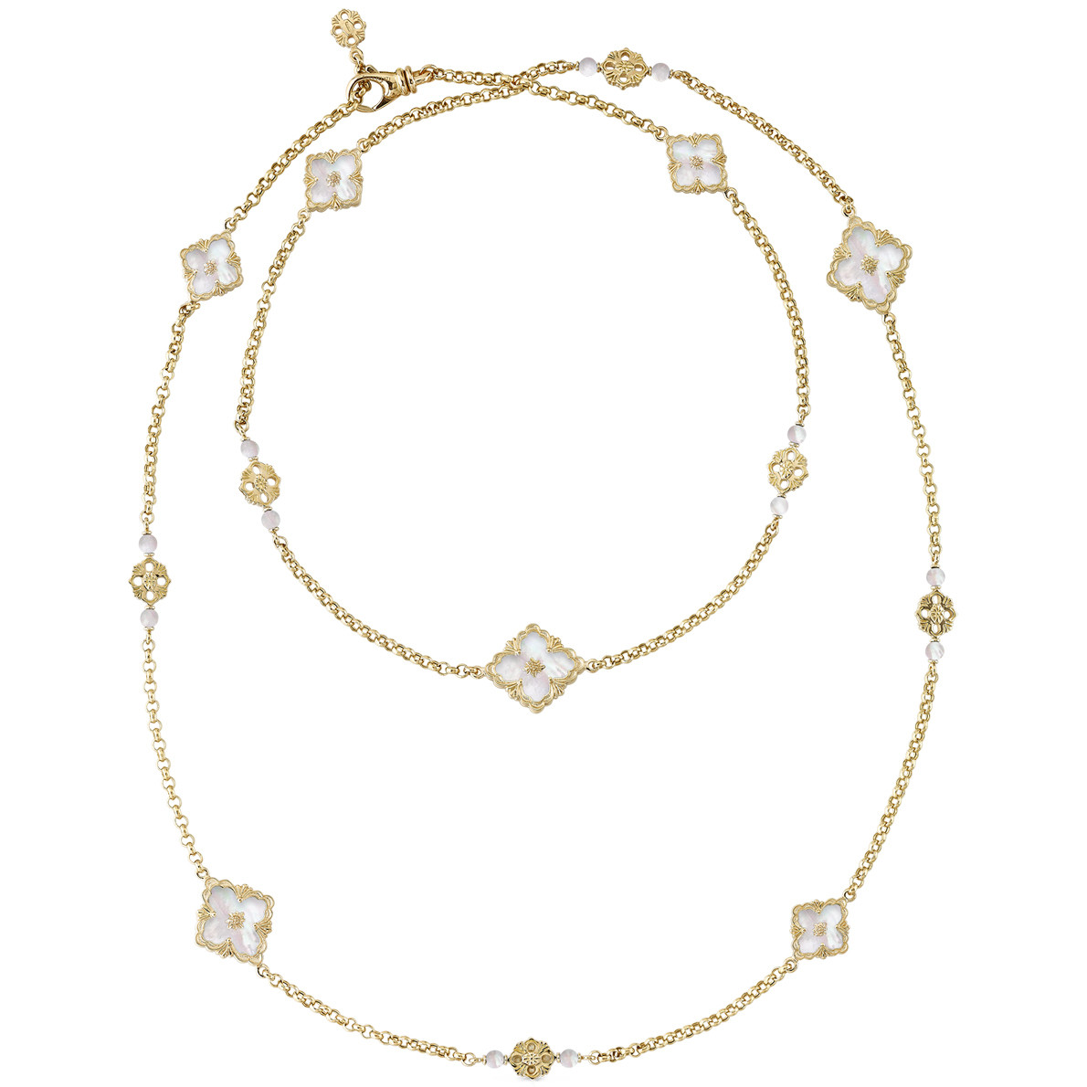 "18k Yellow Gold & Mother-of-Pearl ""Opera"" Long Necklace"
