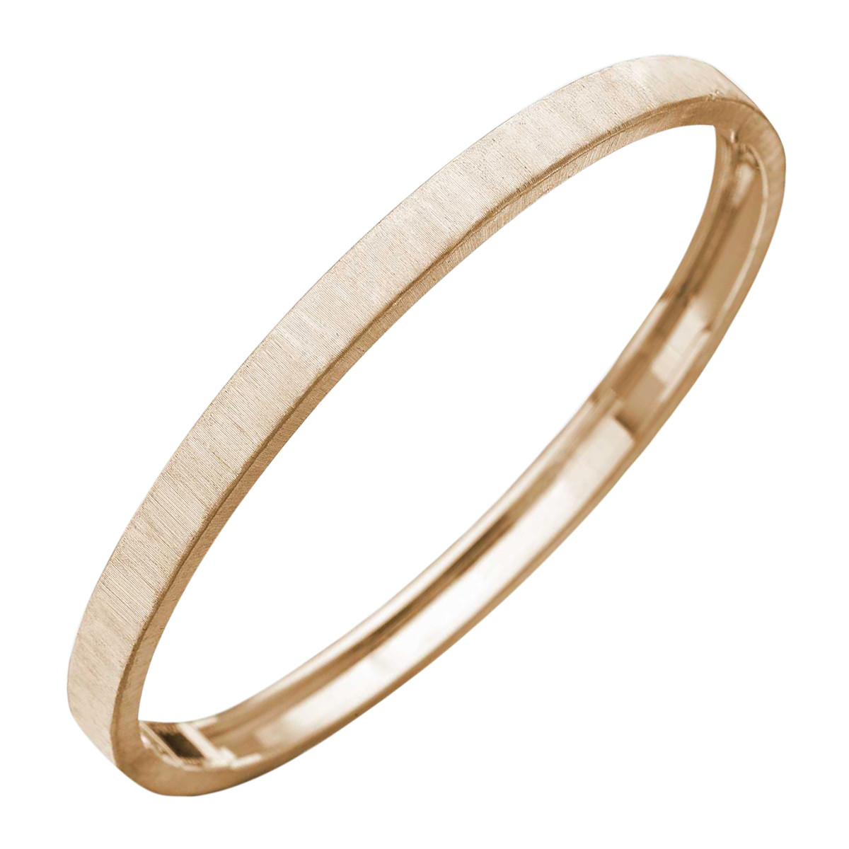 "Thin 18k Pink Gold ""Macri"" Bangle"