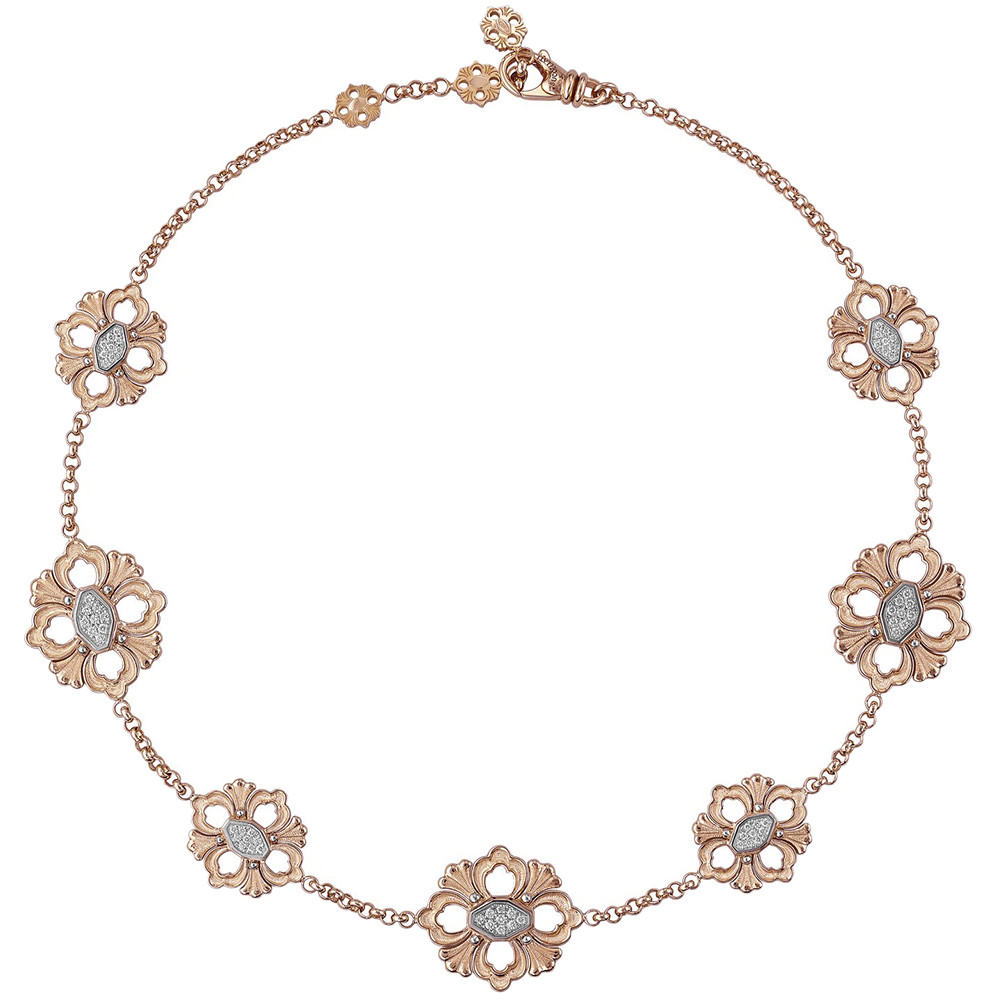 "18k Rose Gold & Diamond ""Opera"" Necklace"