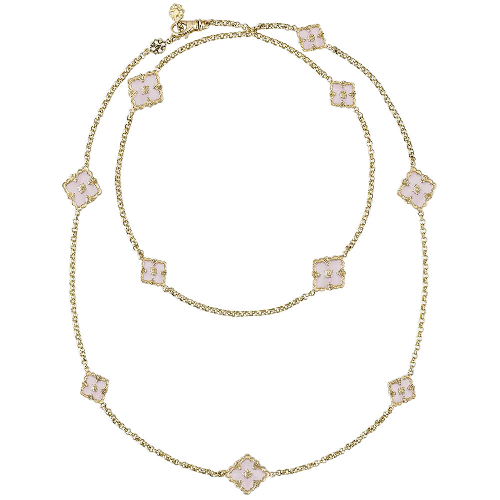 "18k Yellow Gold & Pink Opal ""Opera"" Necklace"