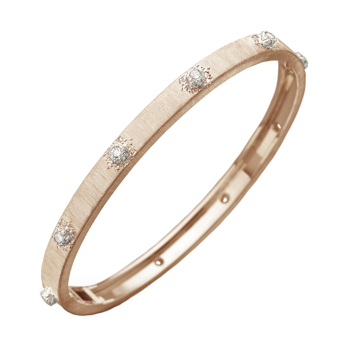 "18k Rose Gold & Diamond ""Macri"" Bangle"