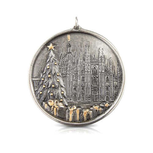 Silver Duomo Christmas Tree Ornament
