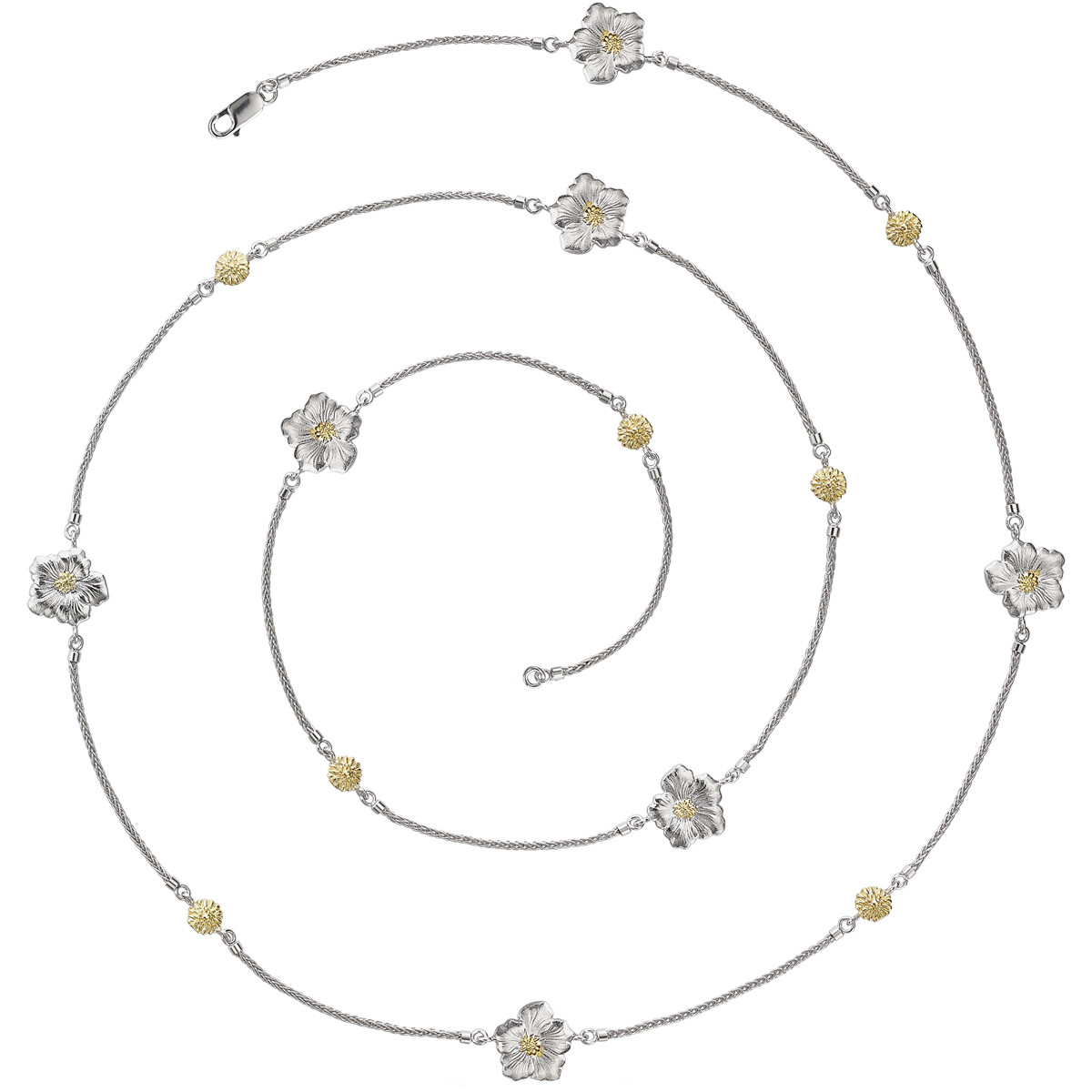 Silver & Vermeil Gardenia Long Necklace