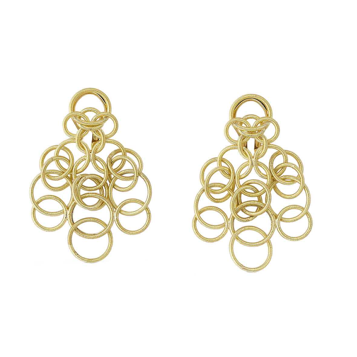 "Small 18k Yellow Gold ""Hawaii"" Chandelier Earrings"