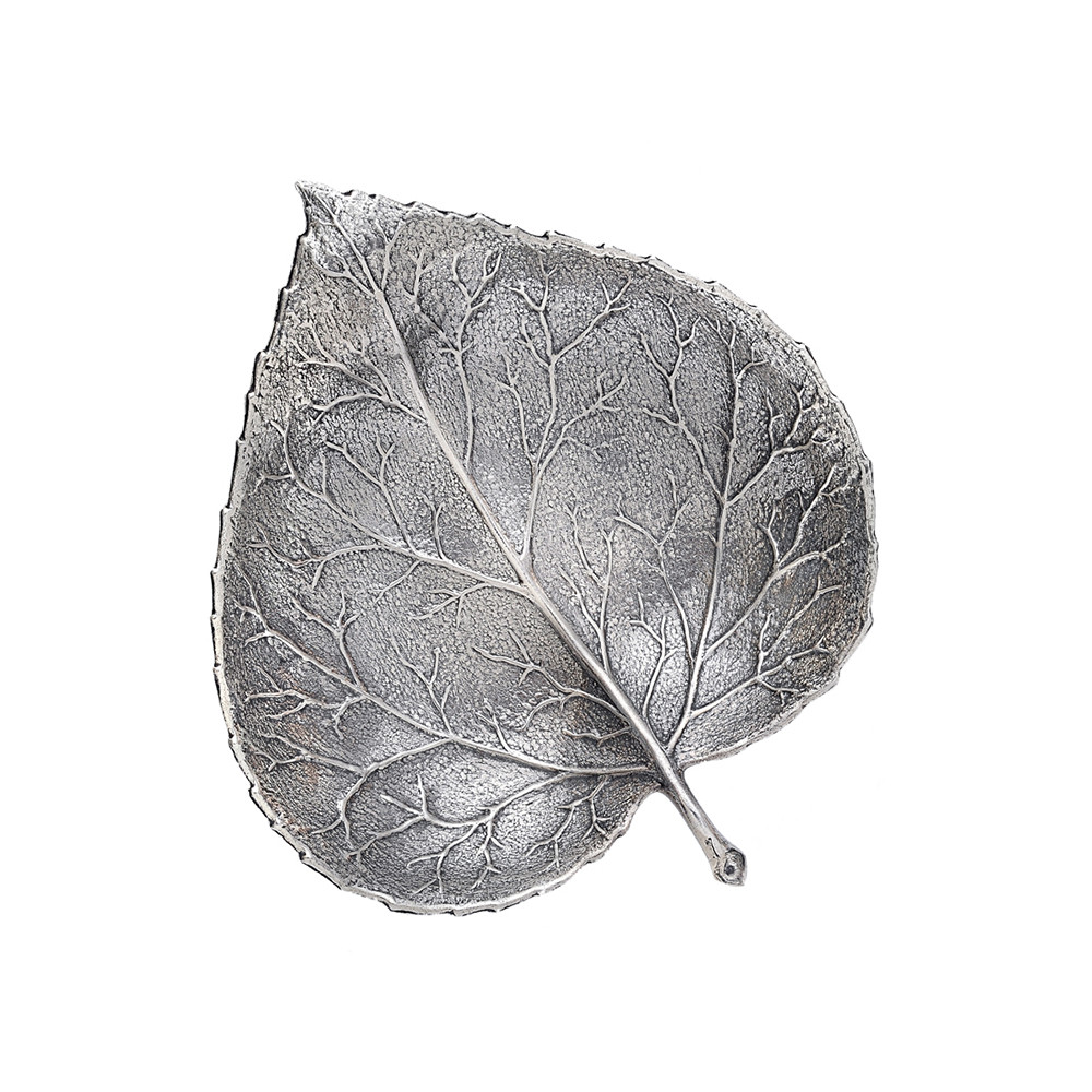 Medium Silver Aspen Leaf Dish