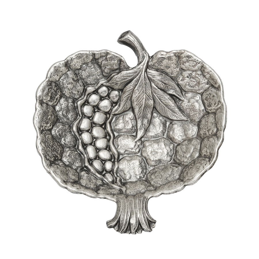 Medium Silver Pomegranate Dish