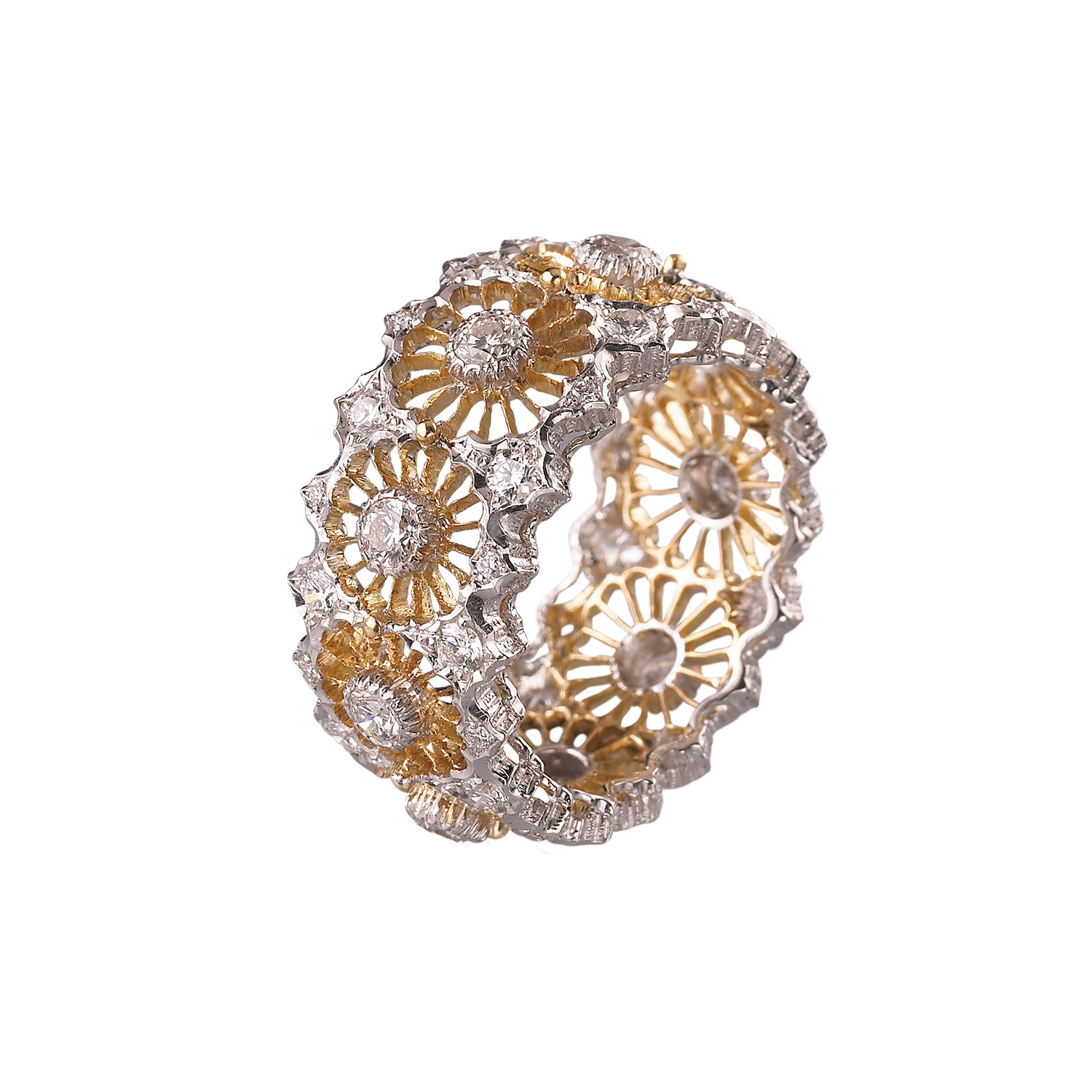 "18k Gold & Diamond ""Tulle Raggiera"" Band Ring"