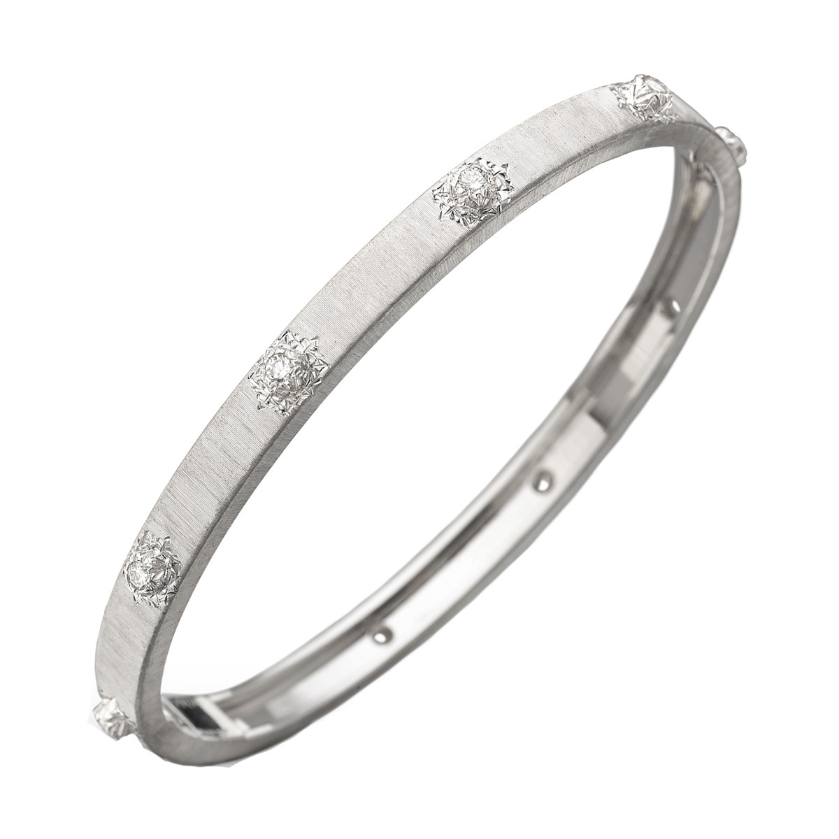 "18k White Gold & Diamond ""Macri"" Bangle"