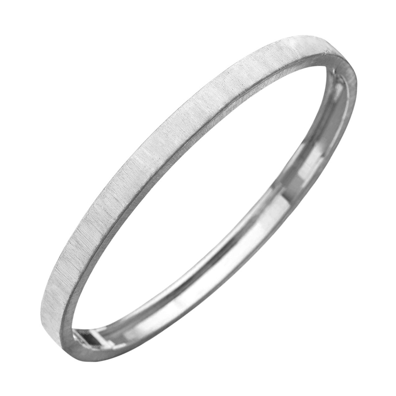 "18k White Gold ""Macri"" Bangle Bracelet"