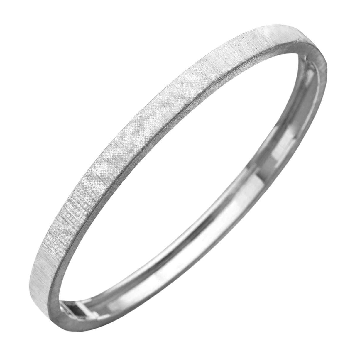 "Thin 18k White Gold ""Macri"" Bangle"
