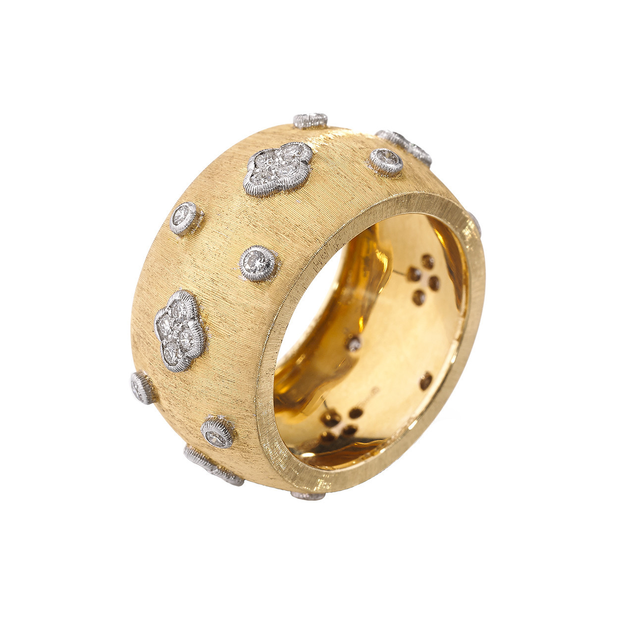 "18k Yellow Gold & Diamond ""Macri AB"" Band"