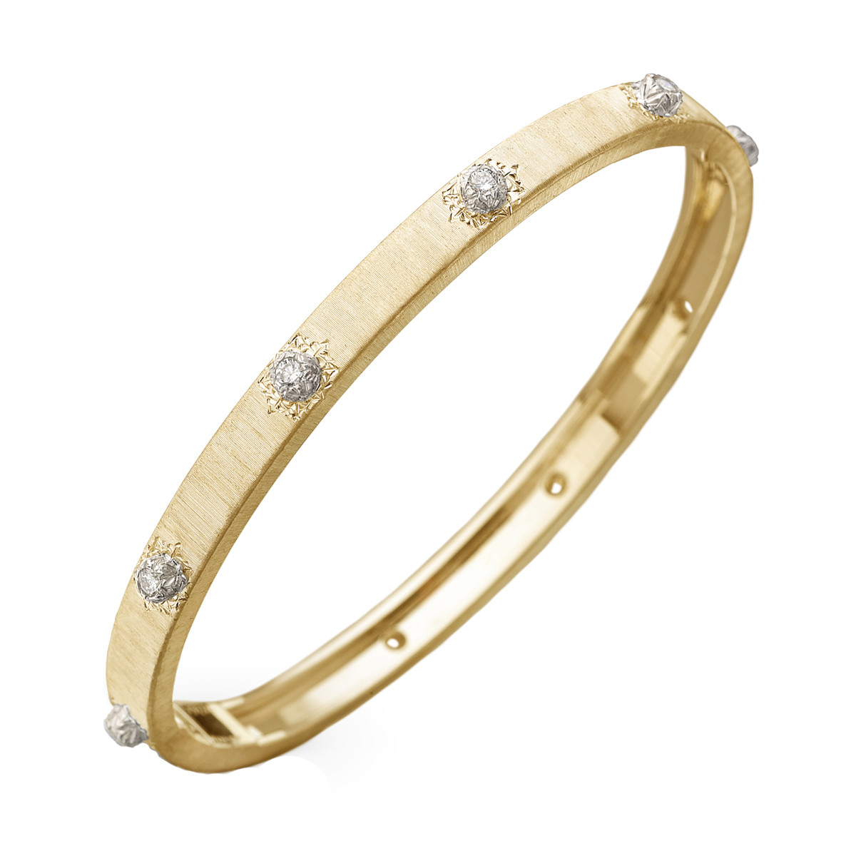 "18k Yellow Gold & Diamond ""Macri"" Bangle"