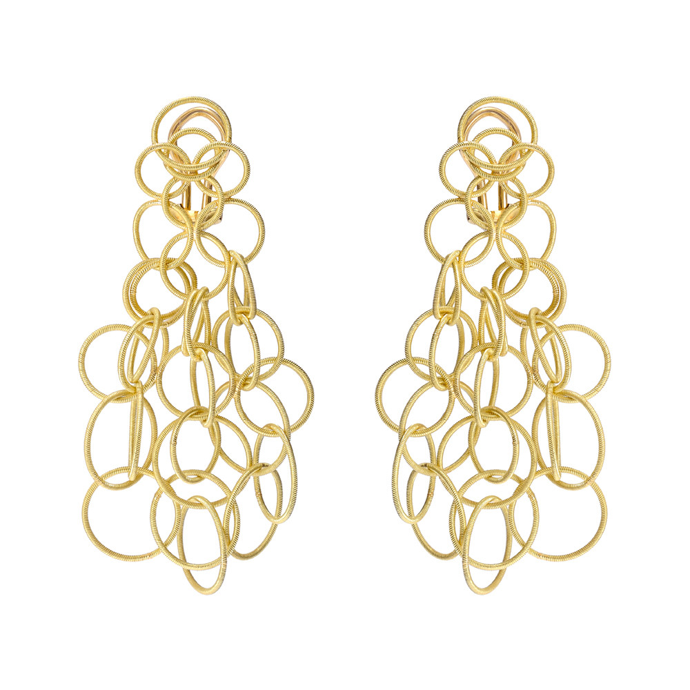 "Medium 18k Yellow Gold ""Hawaii"" Chandelier Earrings"