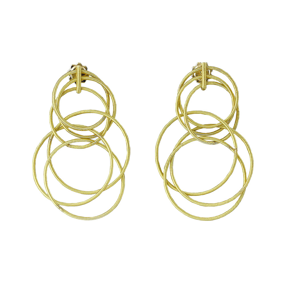 "18k Yellow Gold ""Hawaii Waikiki"" Short Drop Earrings"