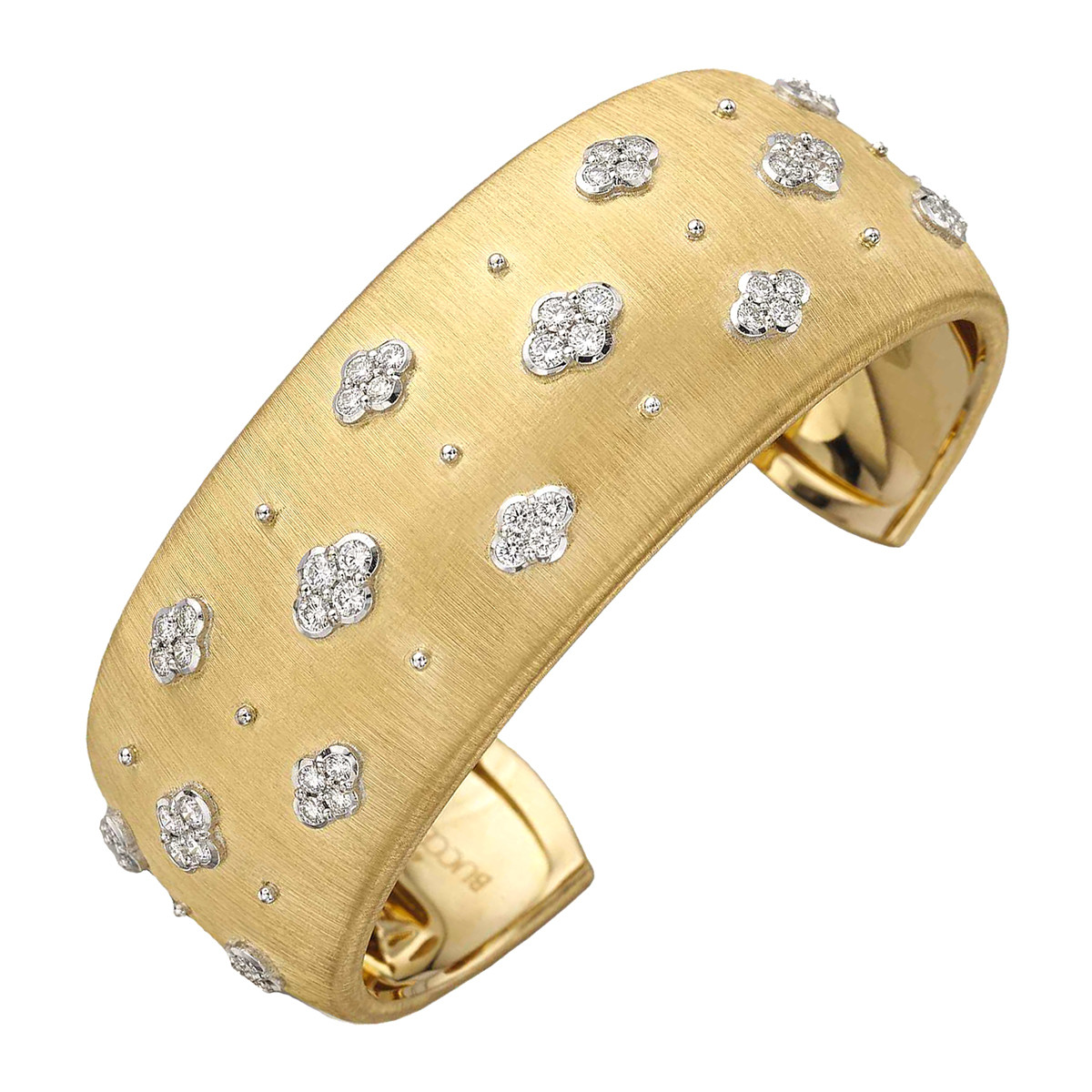 "18k Yellow Gold & Diamond ""Macri"" AB Cuff Bracelet"