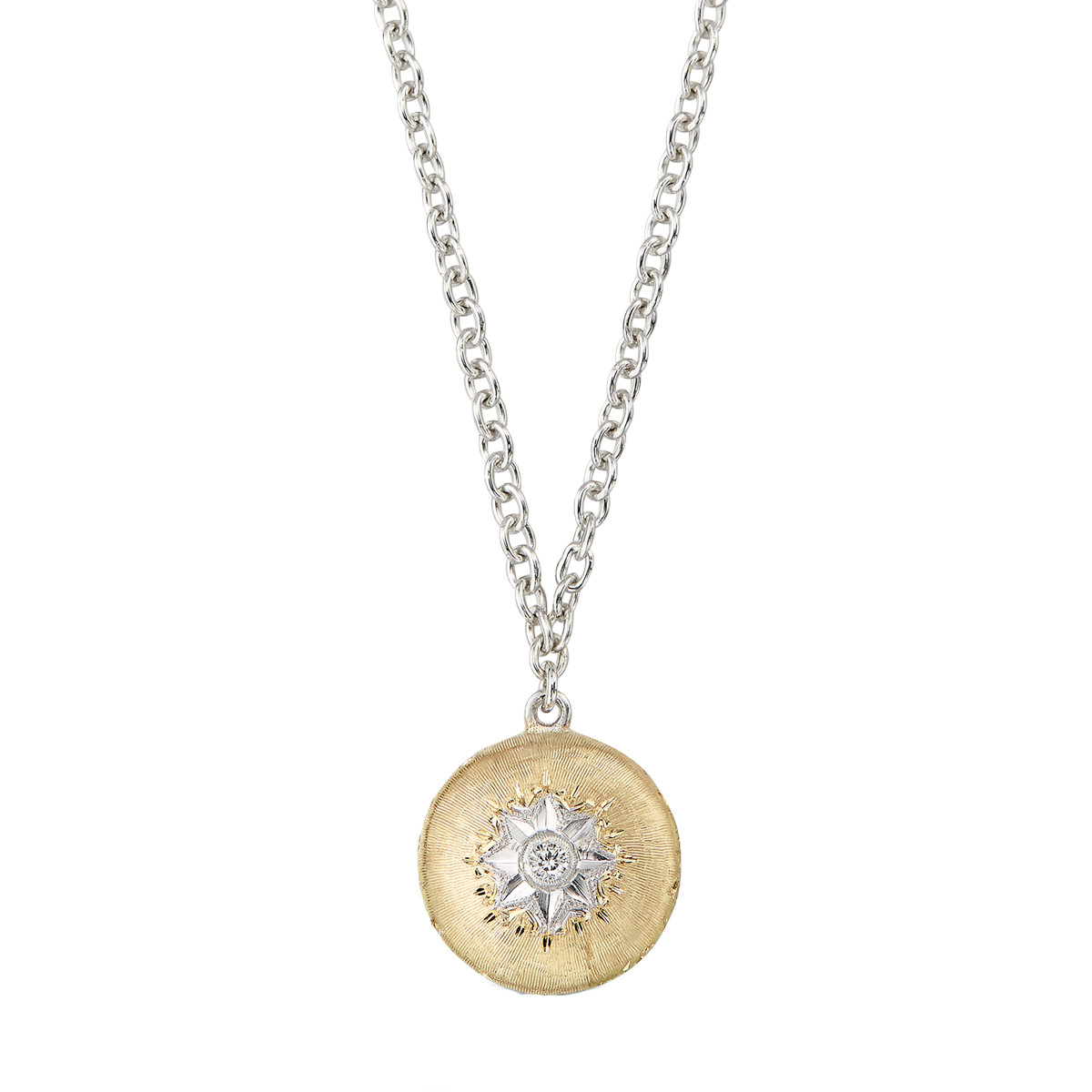 "18k Yellow Gold & Diamond ""Macri"" Round Pendant"