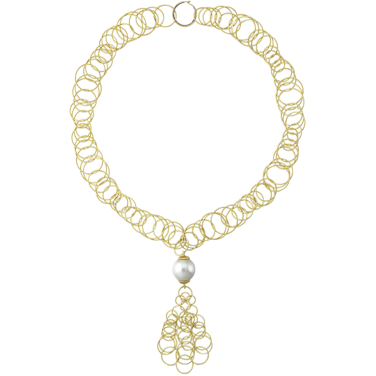 "18k Yellow Gold & Pearl ""Hawaii"" Drop Necklace"
