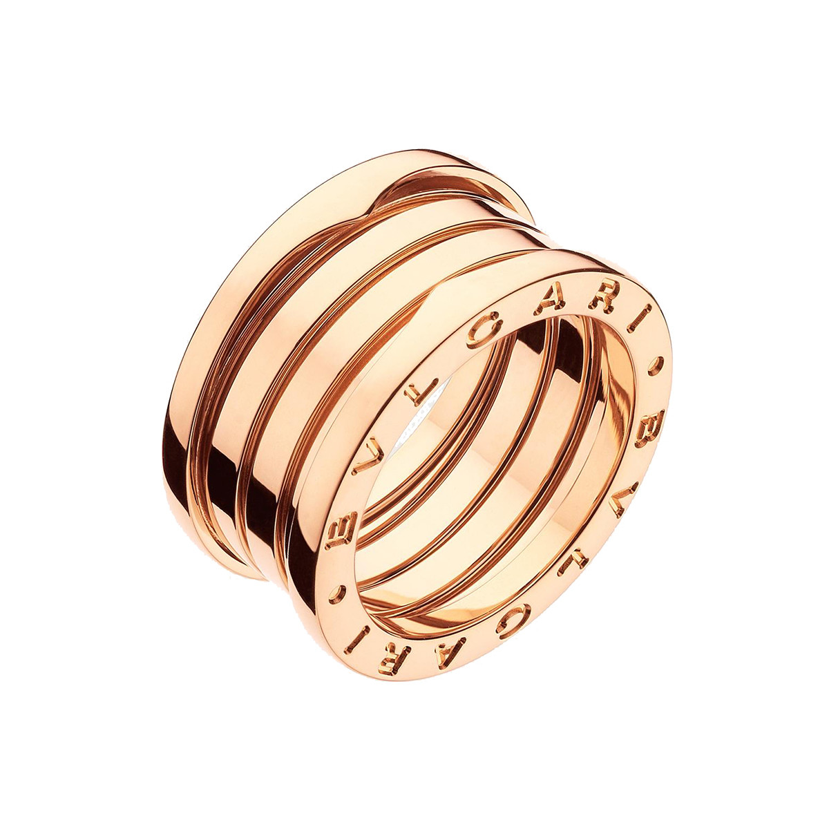 "18k Pink Gold ""B.Zero1"" 4-Band Ring"