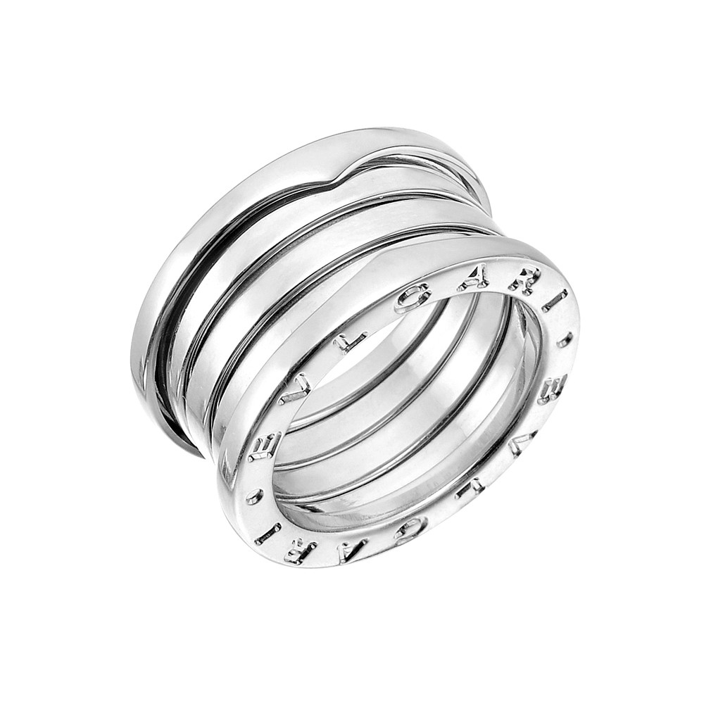 "18k White Gold ""B.Zero1"" 4-Band Ring"