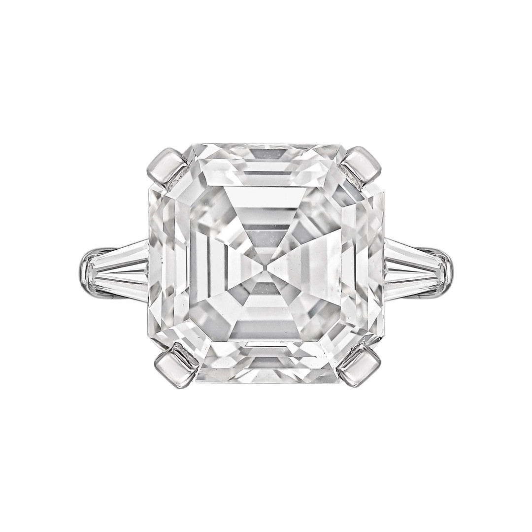 asscher cut ring youtube engagement watch carat diamond stone