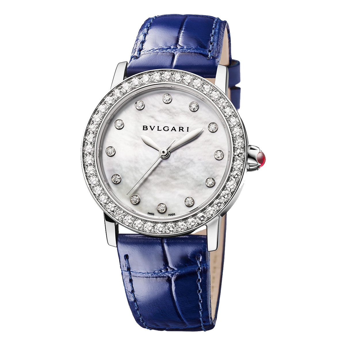 Bvlgari-Bvlgari 33mm Steel & Diamonds (102721)