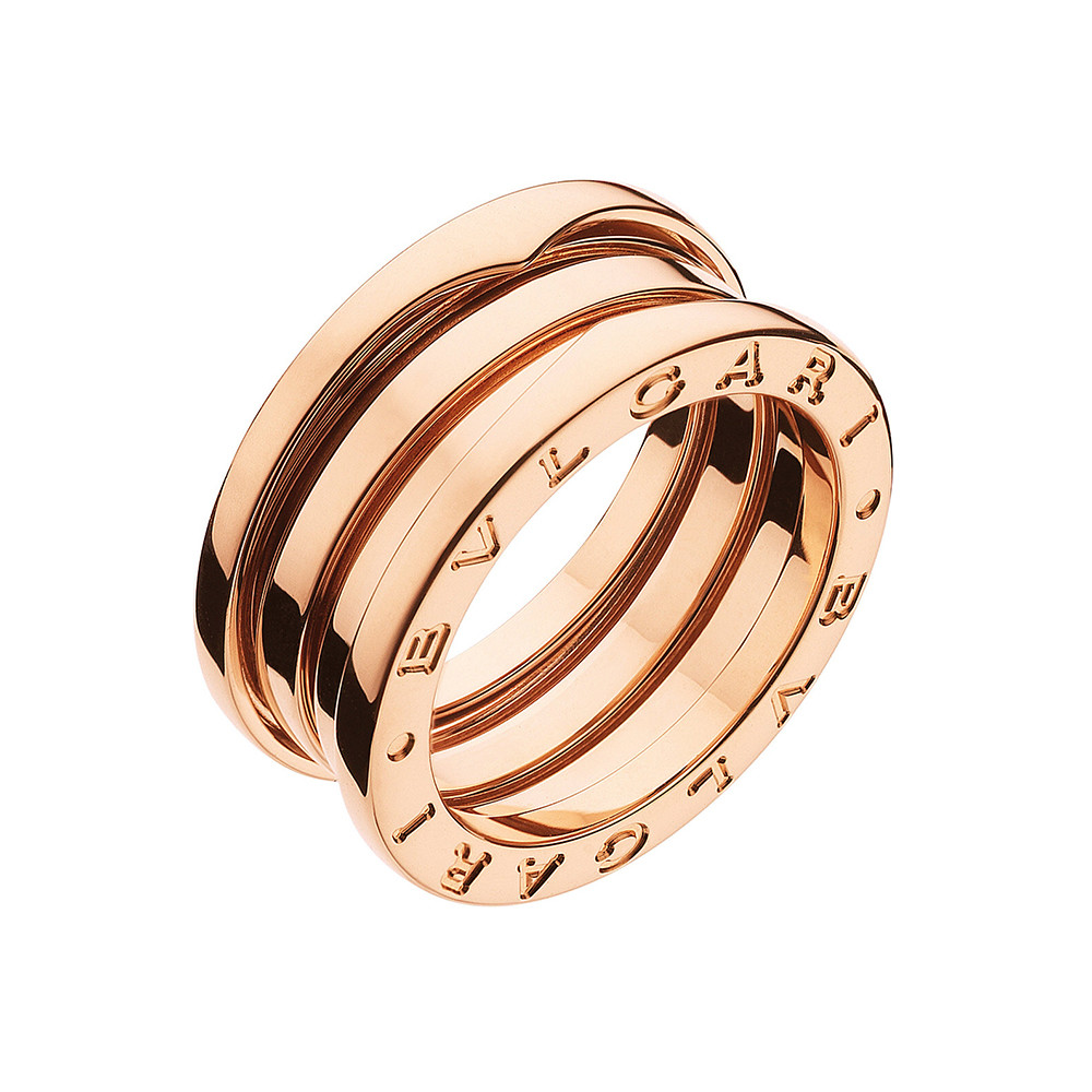 "18k Pink Gold ""B.Zero1"" 3-Band Ring"